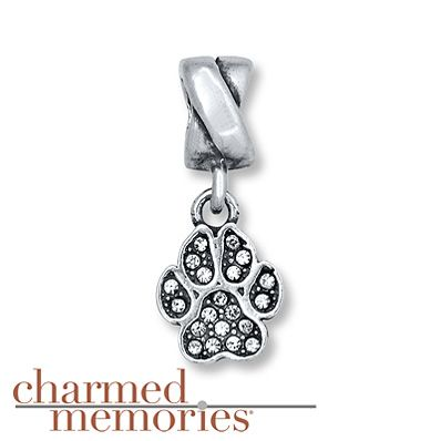 Charmed Memories® Paw Print Charm Sterling Silver--Want this to have in memory of both of my sweet dogs, petey and mabel