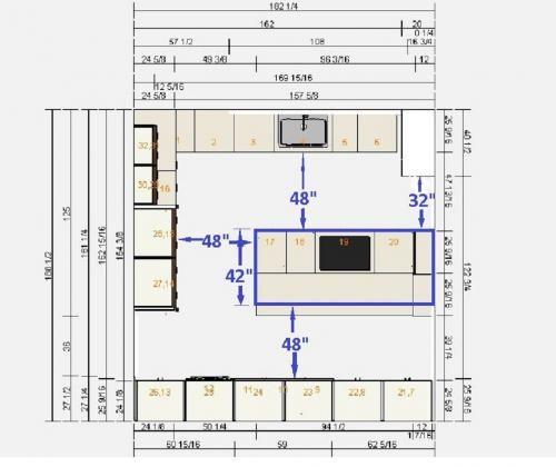 10 X 12 Kitchen Layout Plans Floor Plan Walnut White Another Idea On Size Pinterest