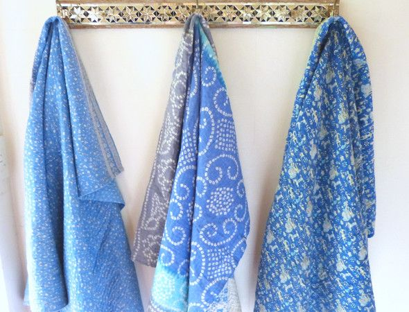 Sally Campbell, Handmade Textiles - my vintage  hand stitched baby throws