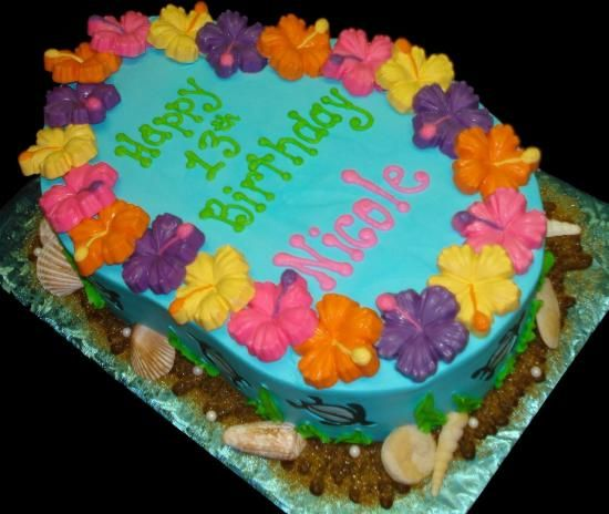 12 best Luau Birthday Cake images on Pinterest Luau appetizers
