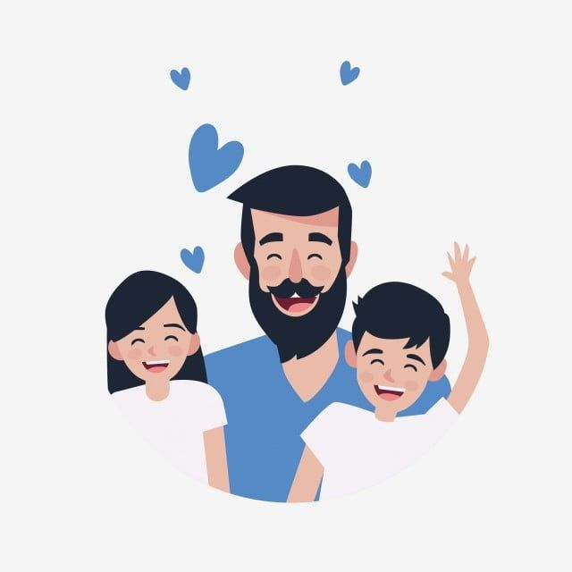 Fathers Day Happy Fathers Day Festival Holiday Theme Happy Happy Father And Daughter Happy Father And Son Png And Vector With Transparent Background For Free Father S Day Drawings Happy Fathers Day