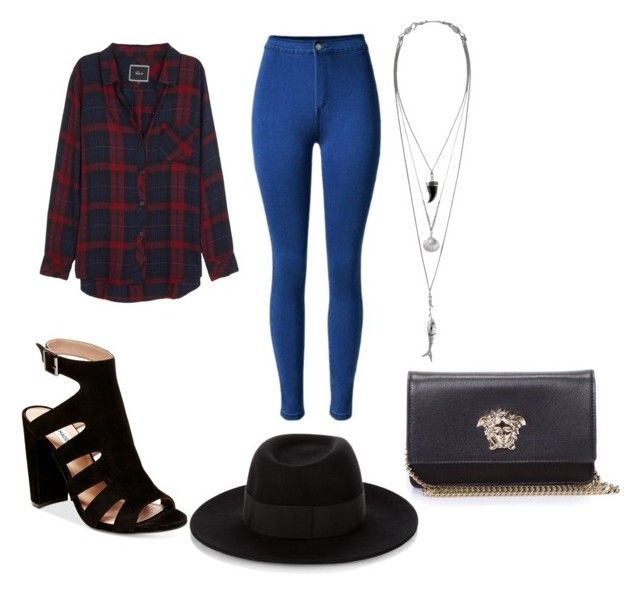"""""""Untitled #31"""" by jackeline1913 on Polyvore featuring Rails, Steve Madden, Maison Michel and Versace"""
