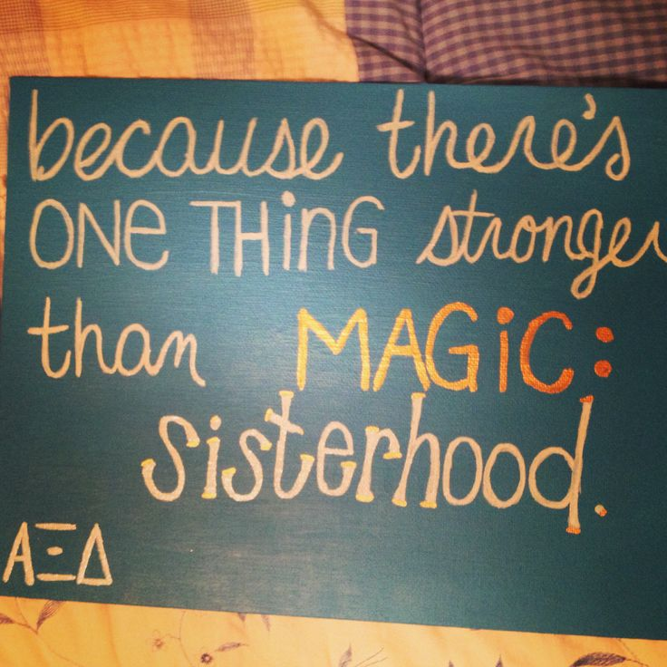 Canvas with sisterhood quote