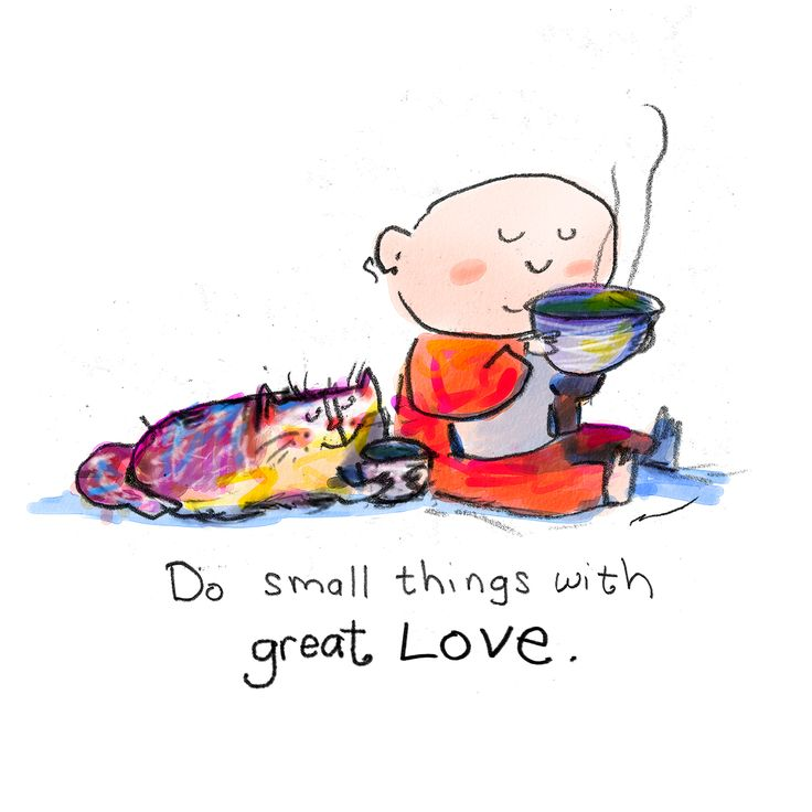 Today's Doodles: small things great love