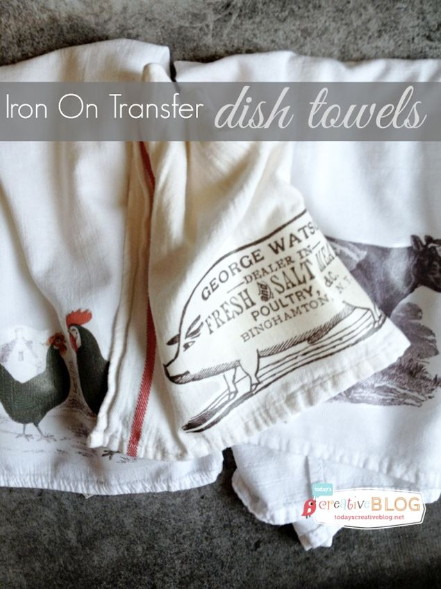 Make Your Own Beautiful Iron-On Transfer Cloth Napkins | One Good Thing by Jillee  (they also have the transfer paper at Walmarts)