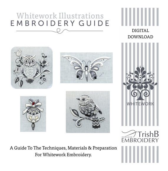 DIgital Download:  A Guide To Whitework by TRISHBURREMBROIDERY