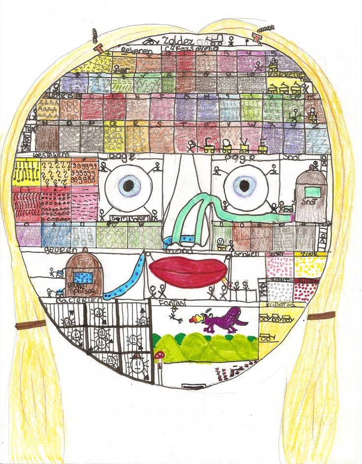 Zo werkt mijn hoofd vertelde het meisje en legde de tekening uit.