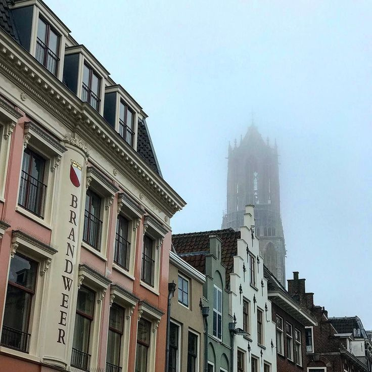 Dom...where are you? #clouds #fog #autumn #dedom #domtower #domtoren #utrecht #holland #icon #landscape #view #city #wanderlust
