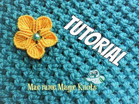 How to Make Macrame Flower ♥ Makramee Blume ♥ - YouTube