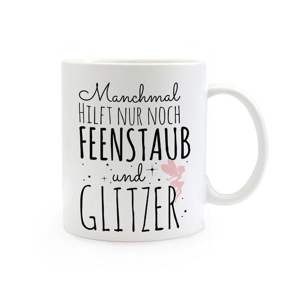 Becher & Tassen - Geschenk Kaffee Tasse Einhorn Spruch ts319 - ein Designerstück von IlkaParey bei DaWanda