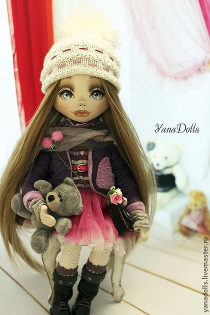 Adele - фуксия,кукла,кукла ручной работы,кукла в подарок,кукла текстильная