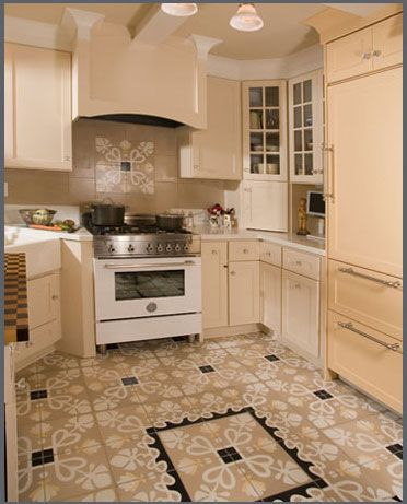 Kitchen Floor Tile | Villa Lagoon Tile | Encaustic Cement Tile