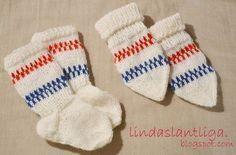 Mönster, babyvantar och sockor.  