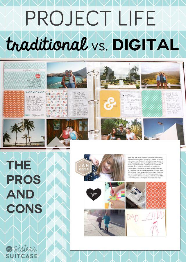 Voor- en nadelen van traditioneel en digitaal plakboeken maken