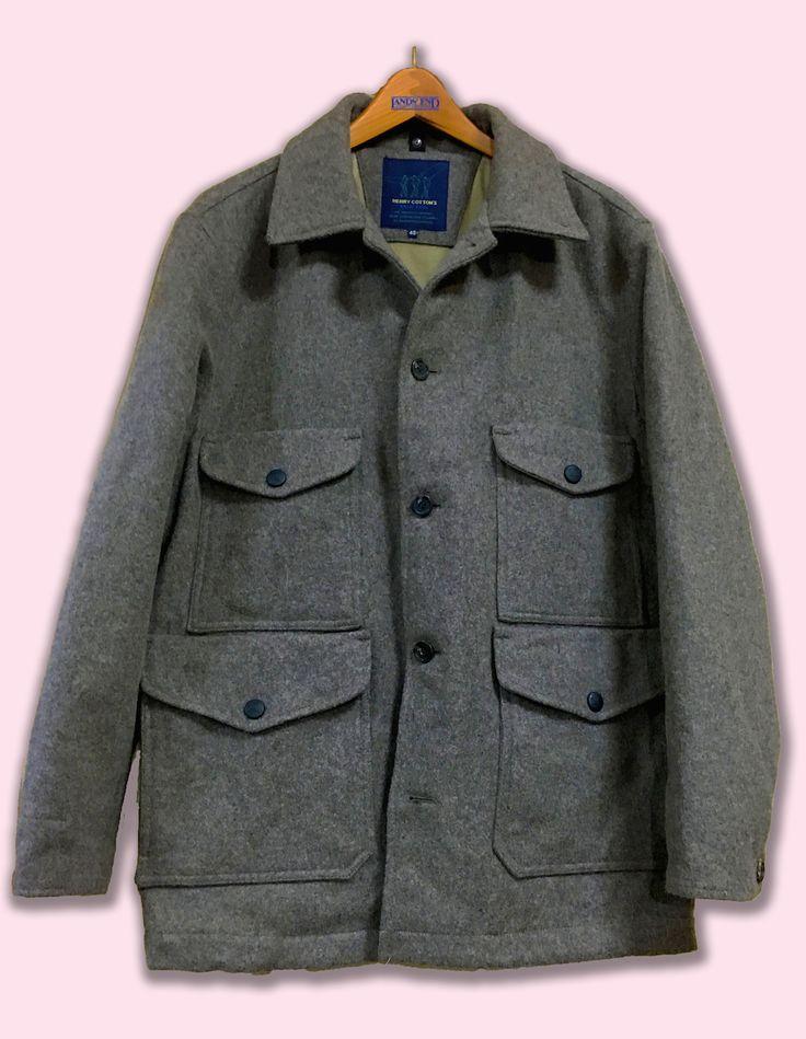 Henry Cotton's Blue Feel Wool Field Jacket.