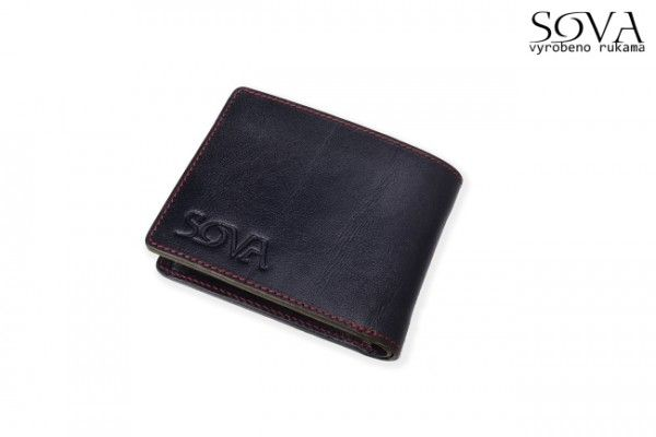 Pánská peněženka kožená TRE, pro leváky, Nero - Kliknutím zobrazíte detail obrázku.