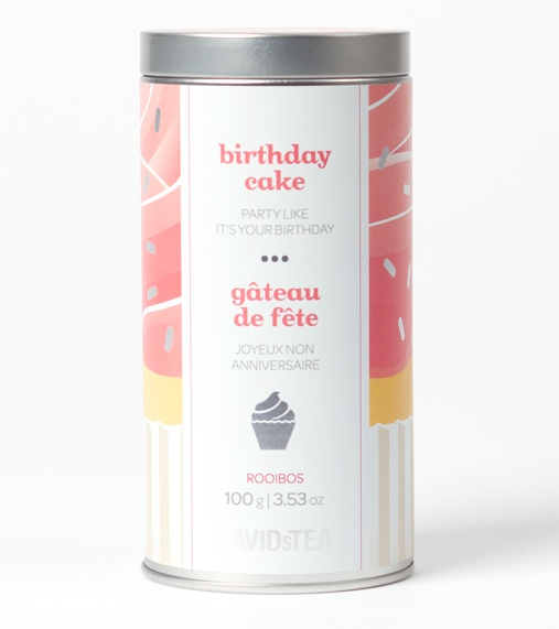 Birthday Cake - Sweet And Festive Rooibos Blend With Honeybush, Green Rooibos, Freeze-Dried Ice Cream and Sprinkles | DavidsTea