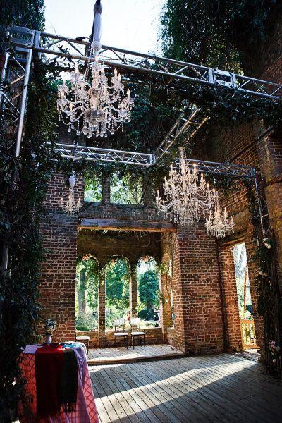 The historic ruins at Barnsley Gardens Resort in Atlanta, Georgia