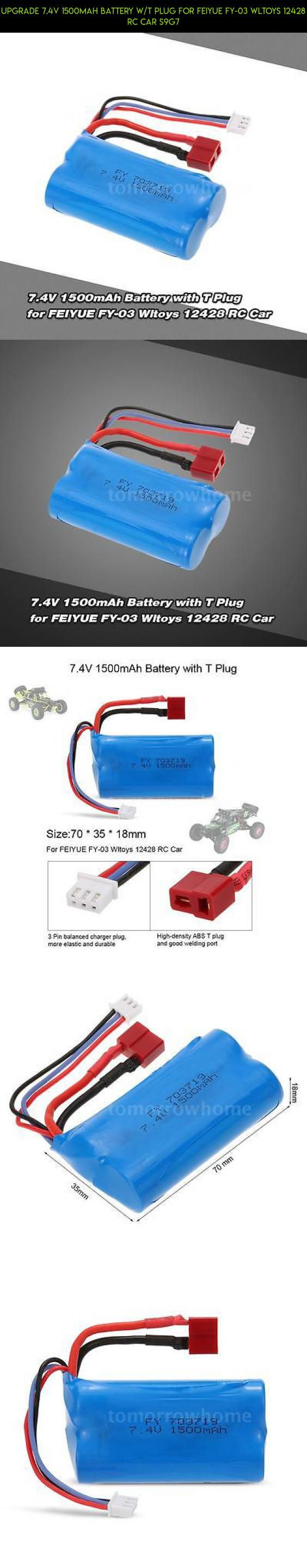 Upgrade 7.4V 1500mAh Battery w/T Plug for FEIYUE FY-03 Wltoys 12428 RC Car S9G7 #technology #plans #battery #gadgets #parts #tech #t #kit #racing #fpv #wltoys #shopping #products #camera #drone #plug