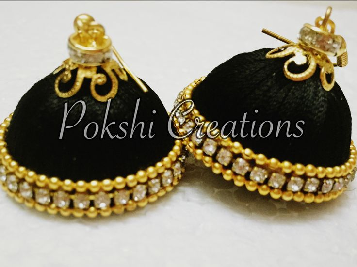 Silk thread Jewellery - black beauty