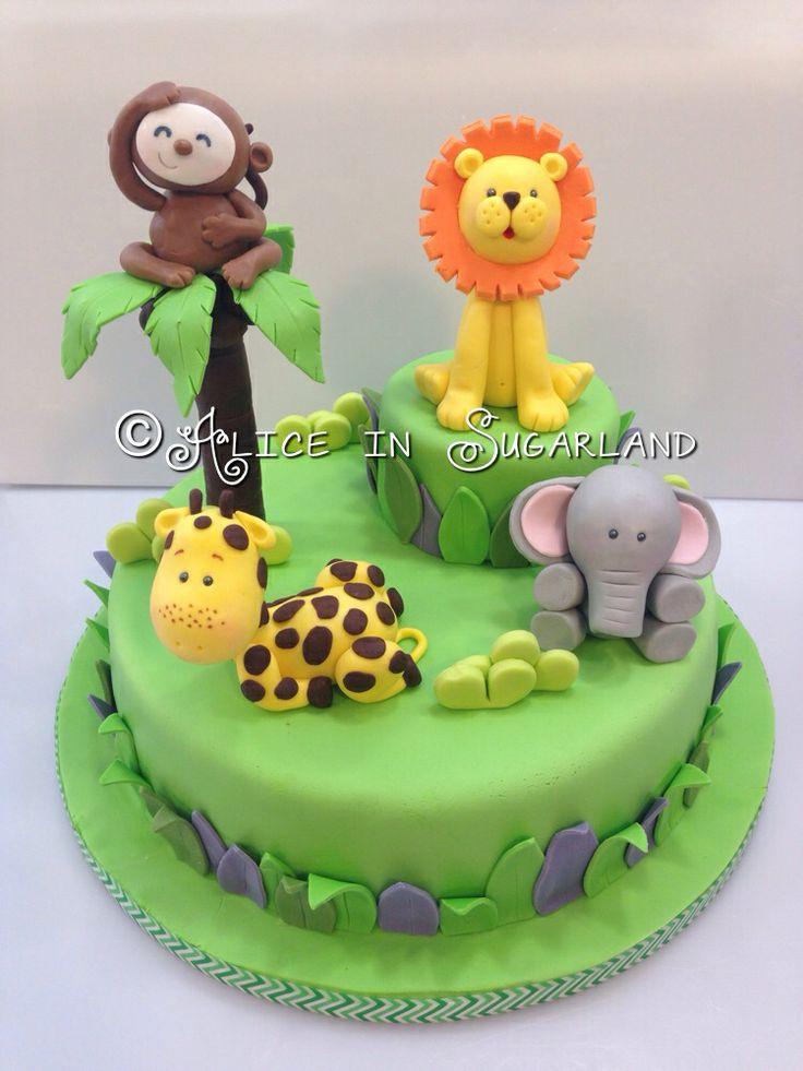 Best 25 Jungle Cake Ideas On Pinterest Zoo Cake Jungle