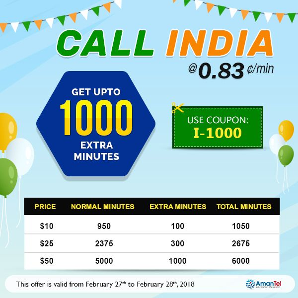 Best 25 usa phone code ideas on pinterest good mobile phones call to india 083min welcome to amantel special offer for calling india check our latest phone call plans to india get upto 1000 extra minutes while fandeluxe Choice Image