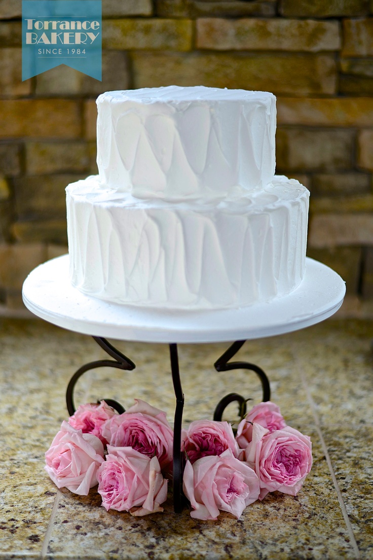 Spooned Buttercream Tiered Cake