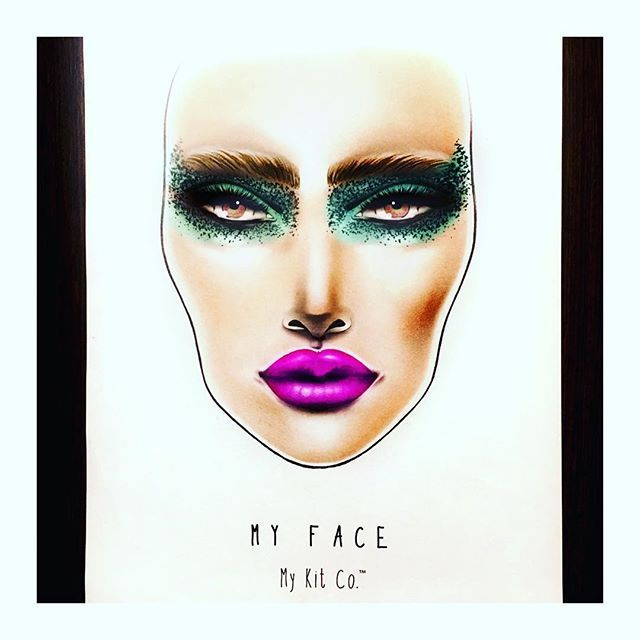 We're feeling this bold colour contact using the #myface by #mykitco #facechart  Our face charts are available in packs of 15 or 30 at the My Kit Co.™ store ⭐️www.mykitco.uk⭐️ #makeup #makeupartist #beauty #eyeshadow #makeupkit