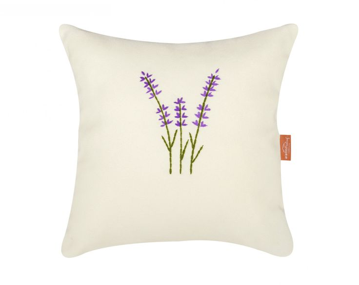 Lavender pillow - hand embroidery and natural plant inside #pillow #nature #lavender #calm #relaxing #sleep #sleepbetter #handembroidery #perfect #gift #home #cozy
