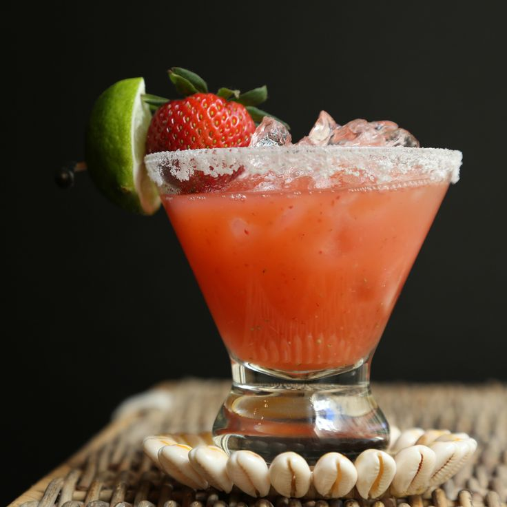 So naturally sweet, these strawberry margaritas don't need any sugar