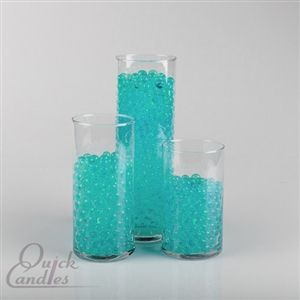 Eastland Aqua Water Pearls Vase Fillers ~ Pack of 36 Bulk ~ $24.99 ~ Pair these water pearls with our set of 36 Cylinders to create a unique centerpiece for your event.