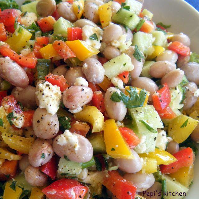 Σαλάτα με χάντρες και λαχανικά
