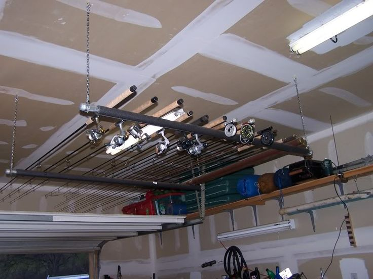 View source image organizing pinterest ceilings for How to store fishing rods