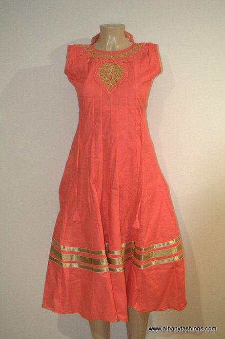 2885-Anarkali Churidar Suit-Orange
