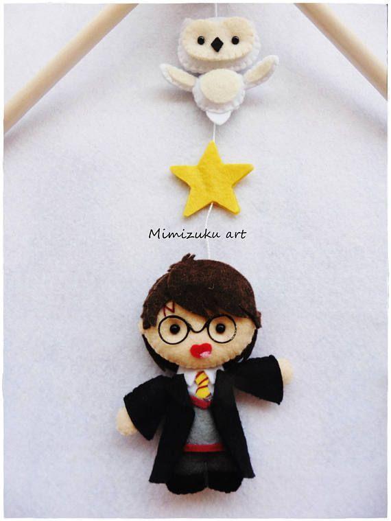 Harry Potter baby mobile Harry Potter felt móvil para bebé