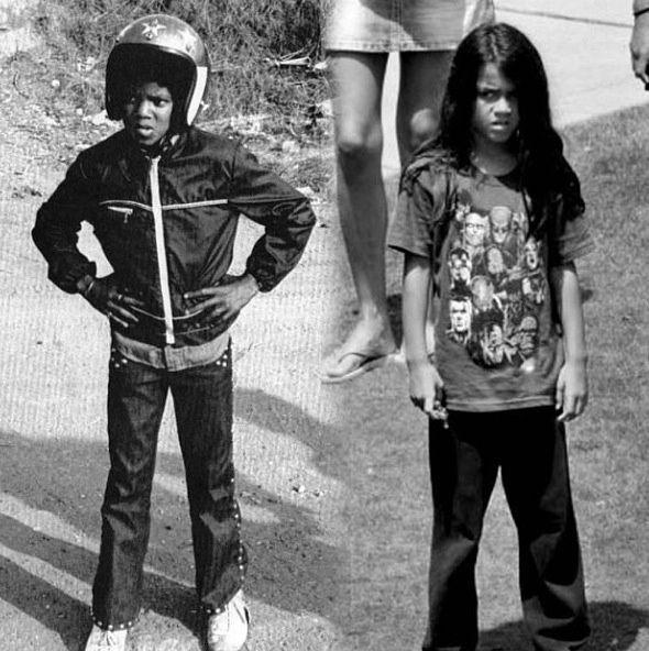 Michael Jackson and Blanket Jackson. I don't care what anyone says , blanket is his child