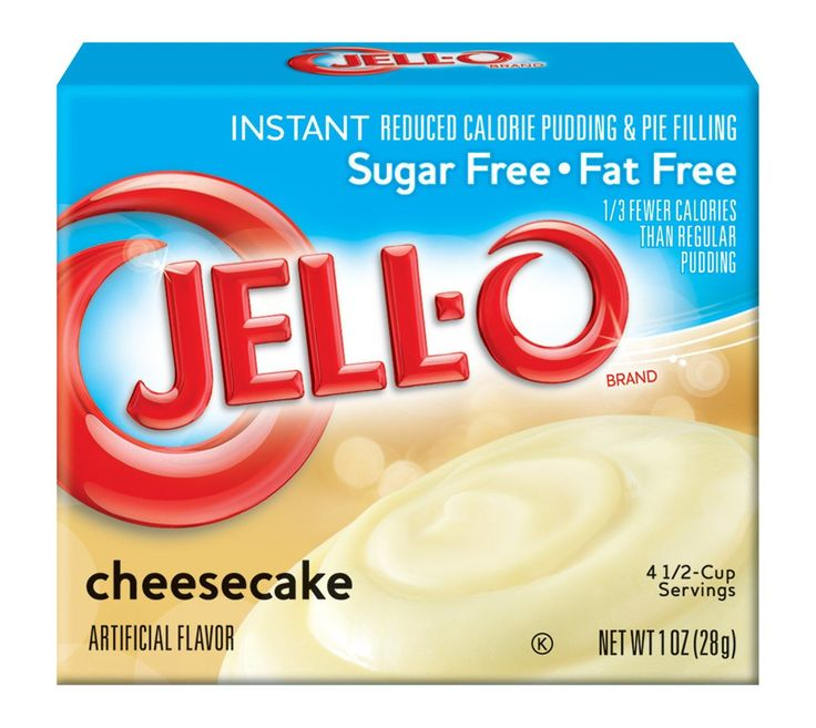 Jell-O Instant Sugar Free-Fat Free Cheesecake Pudding