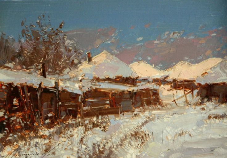 Classiacal paintings - Russian winter