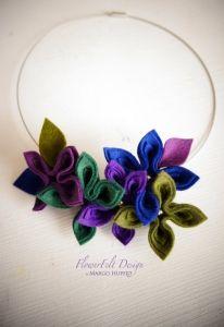 zielenie i fiolety naszyjnik