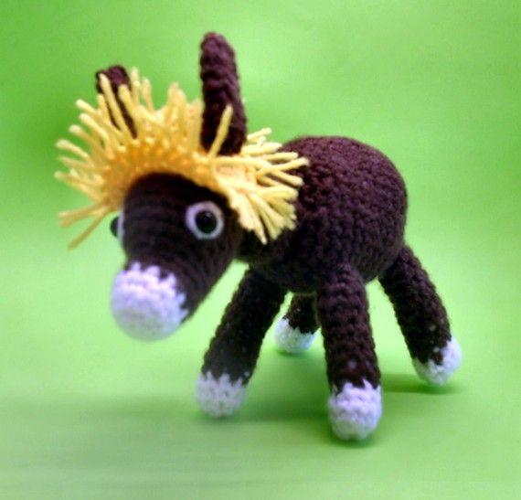 Free Crochet Pattern Donkey Hat : crocheted donkey pattern Amigurumi Donkey Toy Diego the ...