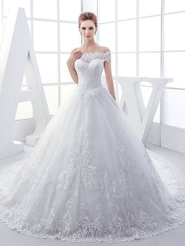 Tidebuy.com Offers High Quality Lace Off the Shoulder Ball Gown Wedding Dress,Priced At Only USD$206.77 (Free Shipping)