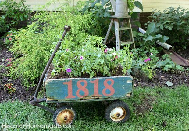 Vintage Wagon Planter More Wagon Planter Planters And