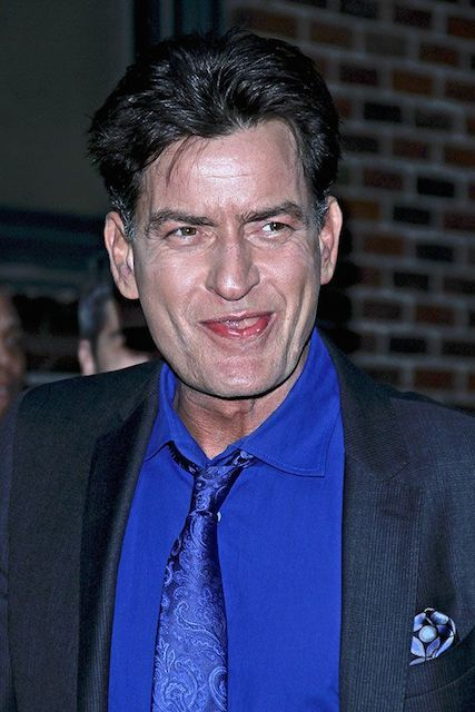 Actor Charlie Sheen...