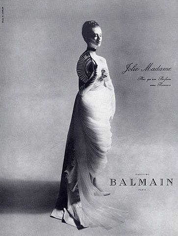 Pierre Balmain (Perfumes) 1961 Photo Kublin, Jolie Madame Vintage advert Perfumes | Hprints.com