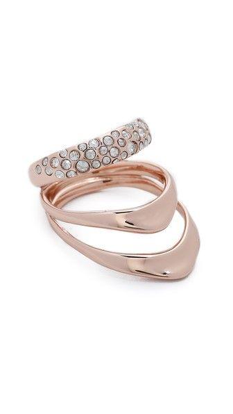 Alexis Bittar Инкрустированное кристаллами кольцо Draping