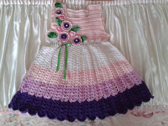 Crochet baby dress by BarbarasArtHand on Etsy, zł195.00