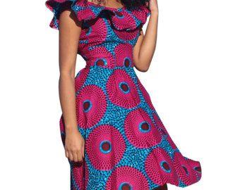 African print dress, Ankara dress, African clothing (Please read item details)