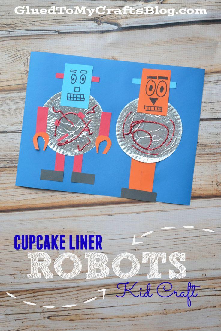 Cupcake Liner Robots {Kid Craft}