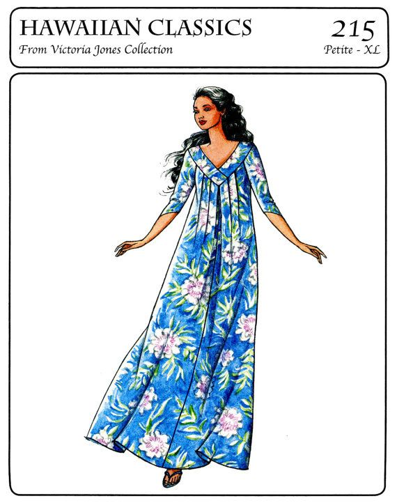 Pullover Vneck Pleated Muumuu Sewing Pattern by BonniesPatternShop, $14.25