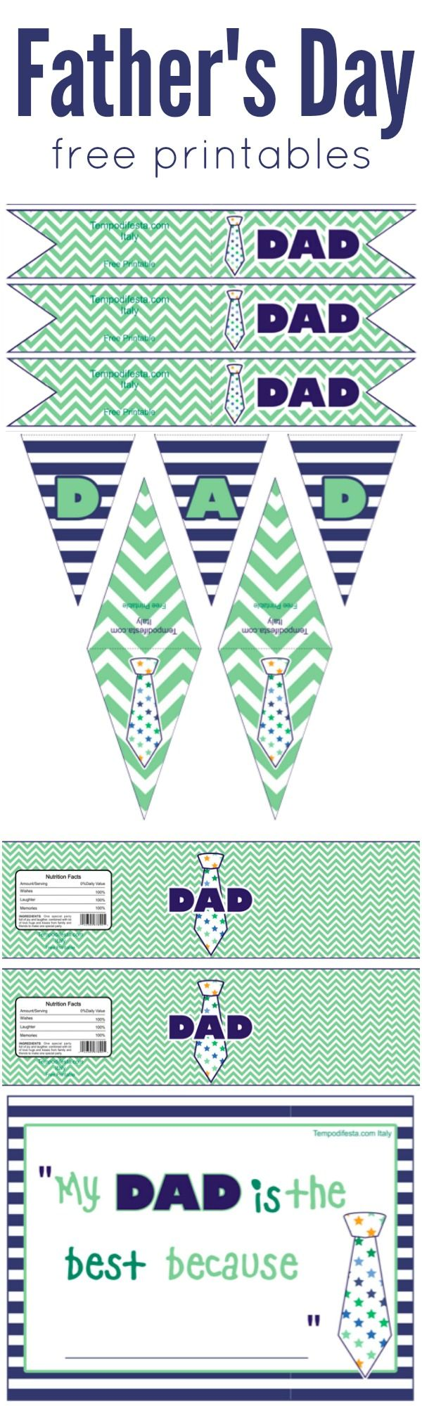 Make Father's Day extra special with these brand new free printables www.weheartparties.com